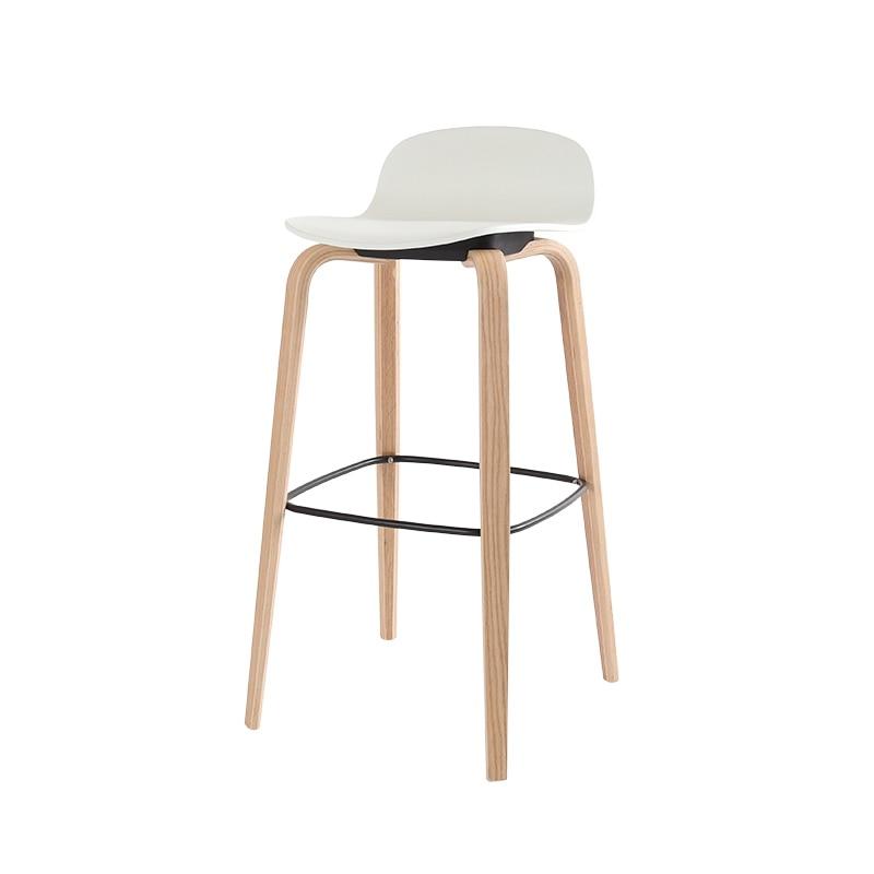 Bar Stool High Stool Bar Stool Ins Nordic Modern Minimalist Solid Wood Home Creative Bar Chair