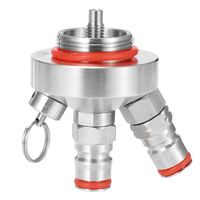 Portable Home Brew Making Mini Keg Dispenser Stainless Steel Dispenser Beer Brewing Double Quick Connection Design Hand Tools