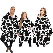 Семейная зимняя одежда шерпа одеяло диван ТВ Походное Флисовое