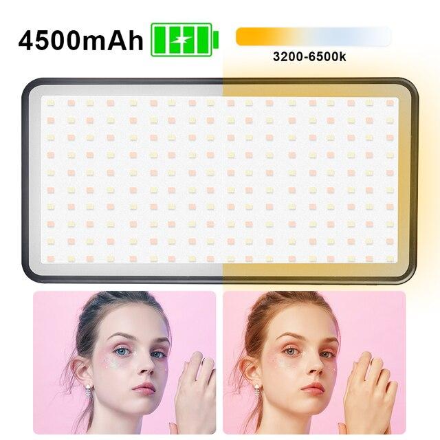 Manbily MFL 06 3000 6500k ledビデオカメラライト調光対応のための96 led写真照明ランプニコンペンタックス