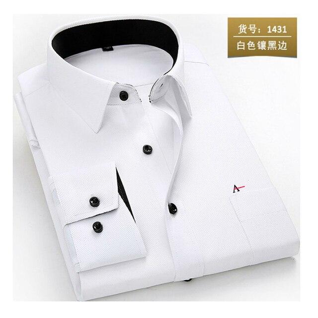 2020 reserva aramy New men shirt Long Sleeve Men Dress Shirt Fashion Male Business Formal Wear Office Working Shirts white shirt 3