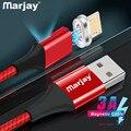 Магнитный кабель Micro USB Marjay, адаптер для быстрой зарядки телефона, кабель передачи данных для Samsung, Xiaomi, Huawei, SONY, Зарядка Micro USB
