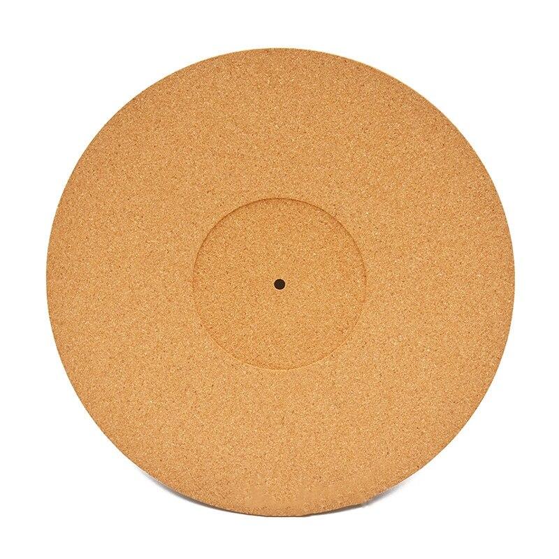 Cork LP Slip Mat Anti-Static Slipmat For 12 Inch LP Vinyl Record Cork Turntable Platter Mat