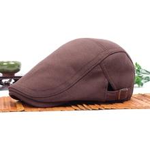 Мужская Ретро газетчик таксистка в стиле Гэтсби, плоская кепка хлопок Гольф вождения берет унисекс шляпа