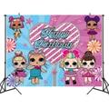 Куклы из серии «LOL Surprise» вечерние фонов шторы Photobooth детское платье для дня рождения вечерние украшения стены фон стенд