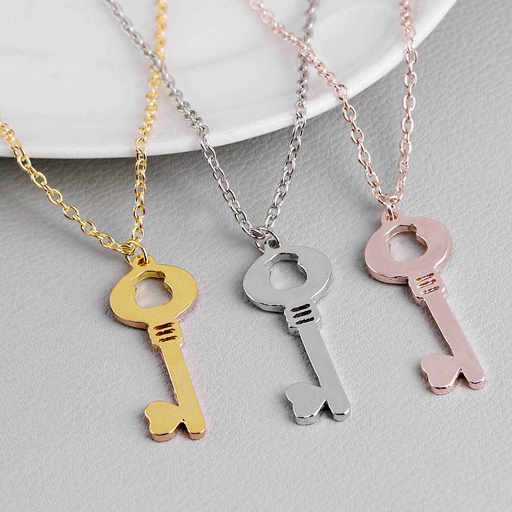 かわいいベビークマキーネックレスペンダントステンレス鋼のペンダント、 1 個ベビーラブキーネックレスジュエリー-あなたの色を選択