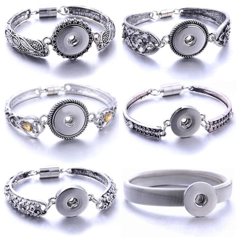 חדש מגנטי הצמד כפתור צמיד לנשים Fit 18mm הצמד כפתורי תכשיטי מתכת הצמד צמידי צמידי תכשיטי הצמד