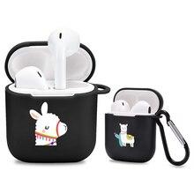 Cartone animato Alpaca lama per Airpods custodia in Silicone carino lusso divertente Airpod Pro custodia Cover Air Pod accessori per auricolari Bluetooth
