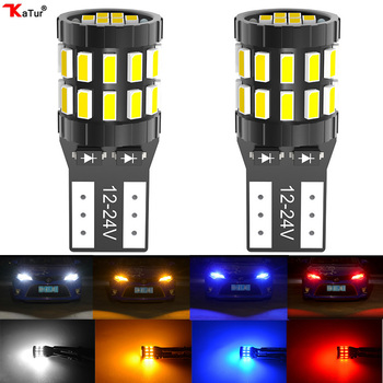2pcs T10 W5W Led Canbus bulbs 194 168 White Blue Red Yellow No Error LED Car Interior Reading Parking Light For BMW Audi Merceds 14pcs can bus error free w5w t10 led interior light kit for audi a3 8p 2004 2013 package replace bulbs white car styling