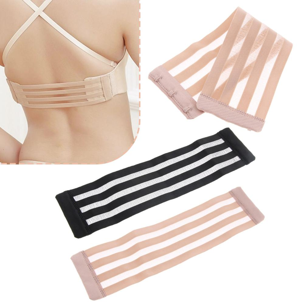 2 Pieces Womens Bra Extender 3 Hooks Ladies Bra Extension Strap Underwear Strapless Shoulder Strap Bra Accessories