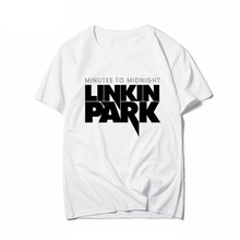 Minutes To Midnight Linkin Park The Hunting Party Printed Men man T Shirt T-shir Rock And Roll Music Tshirt Tops Tees Clothing linkin park the hunting party