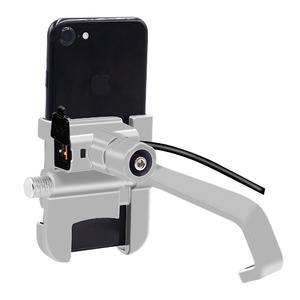 Image 5 - Alüminyum Alaşım Motosiklet dikiz aynası Dağı Genişletici Braketi Cep telefon tutucu Su Geçirmez QC3.0 Hızlı Şarj