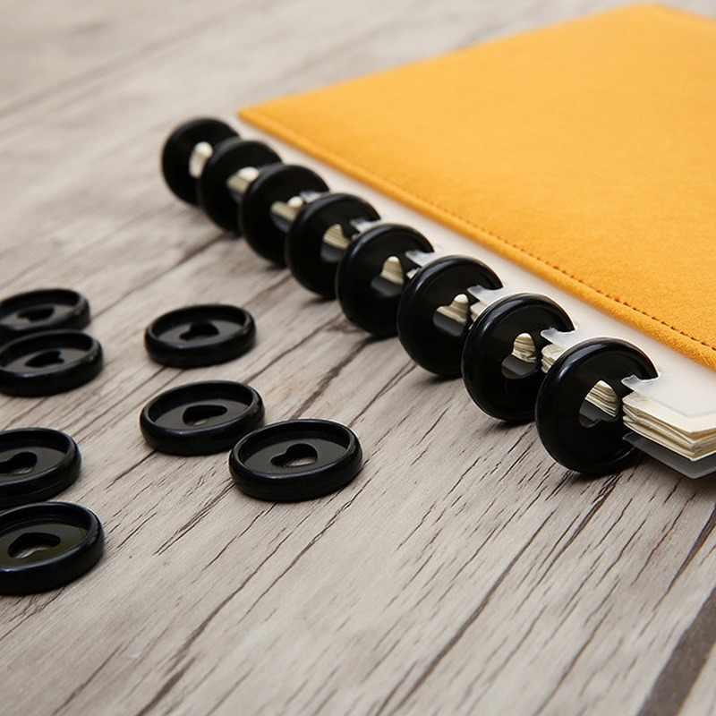 30 Pcs 23 Mm Berwarna-warni Mengikat Disc Gesper Notebook Jamur Lubang Plastik Pesan Cincin Disc Plastik Mengikat Book Binding Supplies