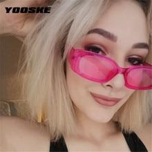YOOSKE, gafas de sol cuadradas pequeñas Vintage, gafas de sol Retro de diseñador de marca para mujer, gafas de sol rectangulares, gafas femeninas de Color caramelo