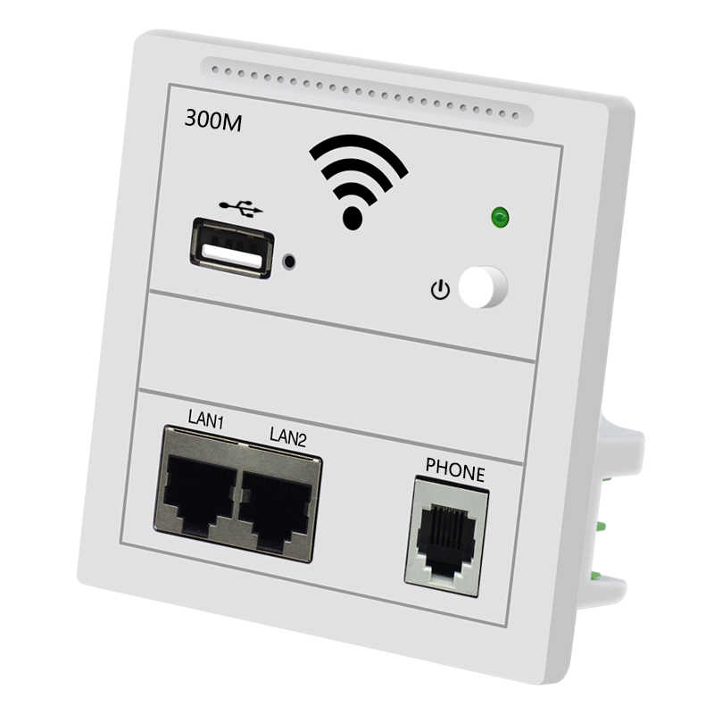 300Mbps 86mm Panel en pared inalámbrico AP Router 220v WiFi Punto de Acceso en la pared AP inalámbrico wifi Router repetidor Envío Directo