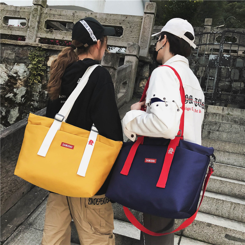 Factory Direct 2019 Spring New Korean Ladies Shoulder Messenger Bag Waterproof Wear-resistant Sports Travel Bag