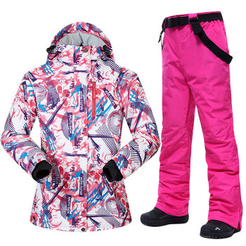 Ski Suits Women Winter Snow Suit Female Skiing and Snowboarding Clothes Windproof Waterproof Outdoor Ski Jackets and Pants Women wild snow lady winter outdoor skiing jackets waterproof warmer snowboarding jackets ski suit clothes female hiking coats