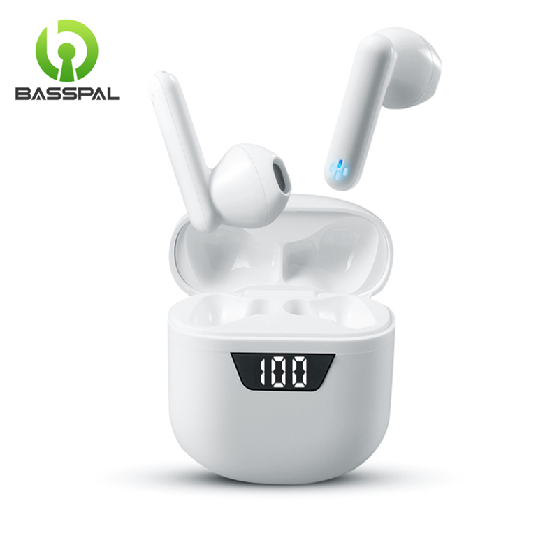 BassPal Wireless Earbuds Bluetooth 5 0 Earphones with Mini Charging Case Touch Control Built-in Mic Earphones for Android   iOS