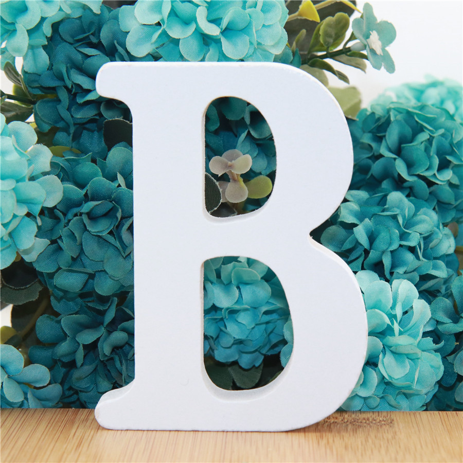 1pc 10cm White Wooden Letters Alphabet DIY Word Letter Party Wedding Home Decor Name Design Art Crafts Standing 3.94 Inches