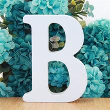 Letras do alfabeto de madeira branca de 10cm, palavra diy, festa, casamento, decoração de casa, design de artesanato, 1 peça 3.94 polegadas