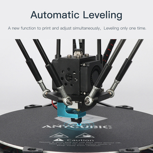 Image 2 - ANYCUBIC Kossel 3D מדפסת ליניארי בתוספת חצי התאסף עם אוטומטי פילוס גדול 3D הדפסת גודל Impressora 3D DIY קיט
