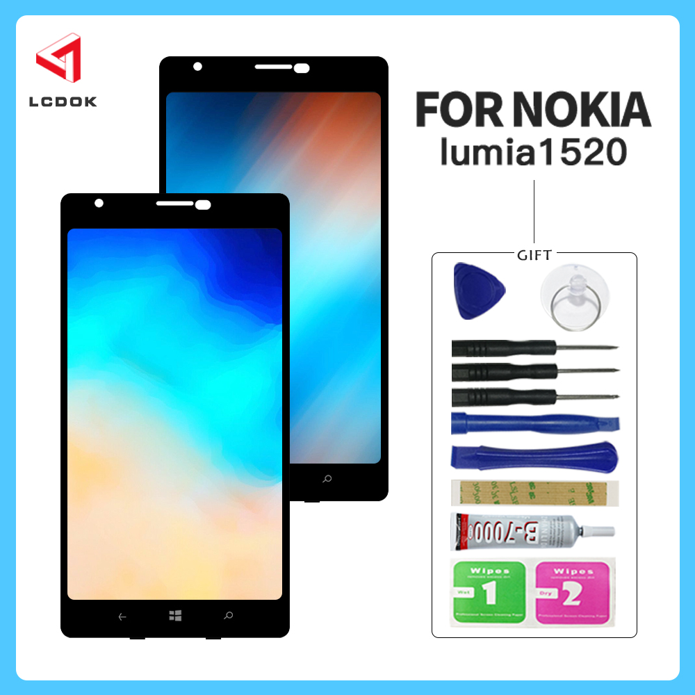 HighQuality Screen For Nokia Lumia 1520 RM 937 RM 939 RM 940 LCD Display Touch Screen Digitizer Assembly Panel Replacement Parts