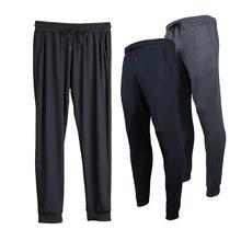 Длинные штаны для бега мужские облегающие спортивные из полиэстера