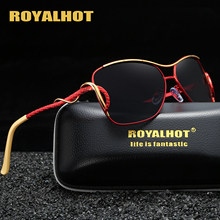 RoyalHot Polarized Oval Aloy Curve Frame Sunglasses Women Oversized  Driving Sun Glasses Shades Oculos masculino Male 60013