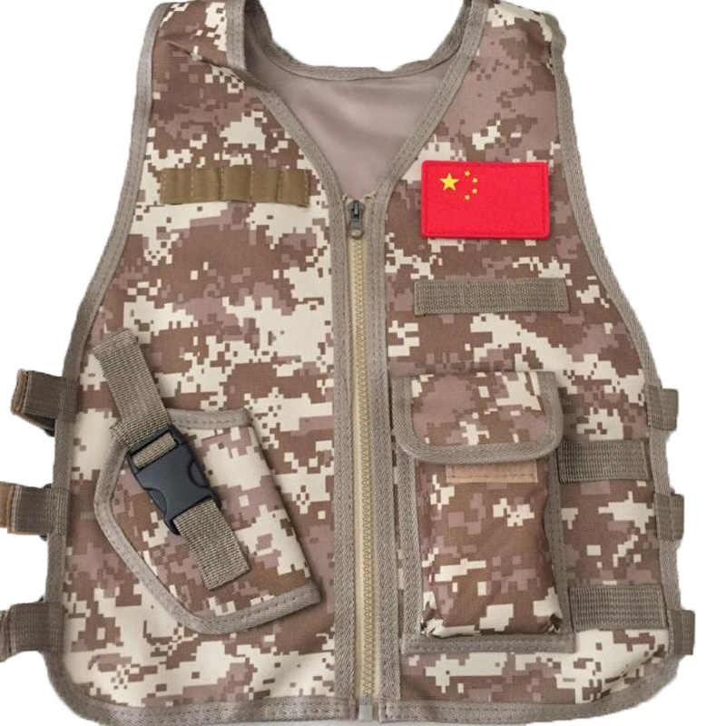 Kinderen Camouflage Sniper Vest Jacht Kleding Kids Jongen Meisje Militaire Combat Army Tactical Uniform Jungle Airsoft Cs Kleding