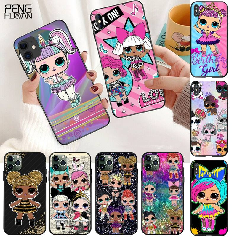 LOL little Dolls Girl Phone Case For iphone 12 11 Pro Max Mini XS Max 8 7 6 6S Plus X 5S SE 2020 XR Cover