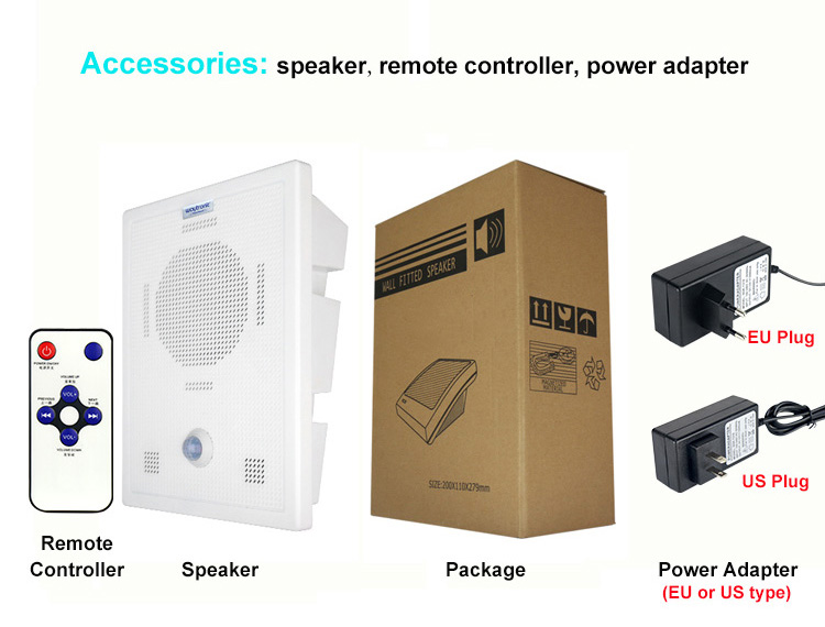 Image 5 - Cellphone Bluetooth Wireless Voice Replacement Motion Sensor Loudspeaker Wall Mount High Power MP3 Audio Announcement Speaker-in Building Automation from Security & Protection