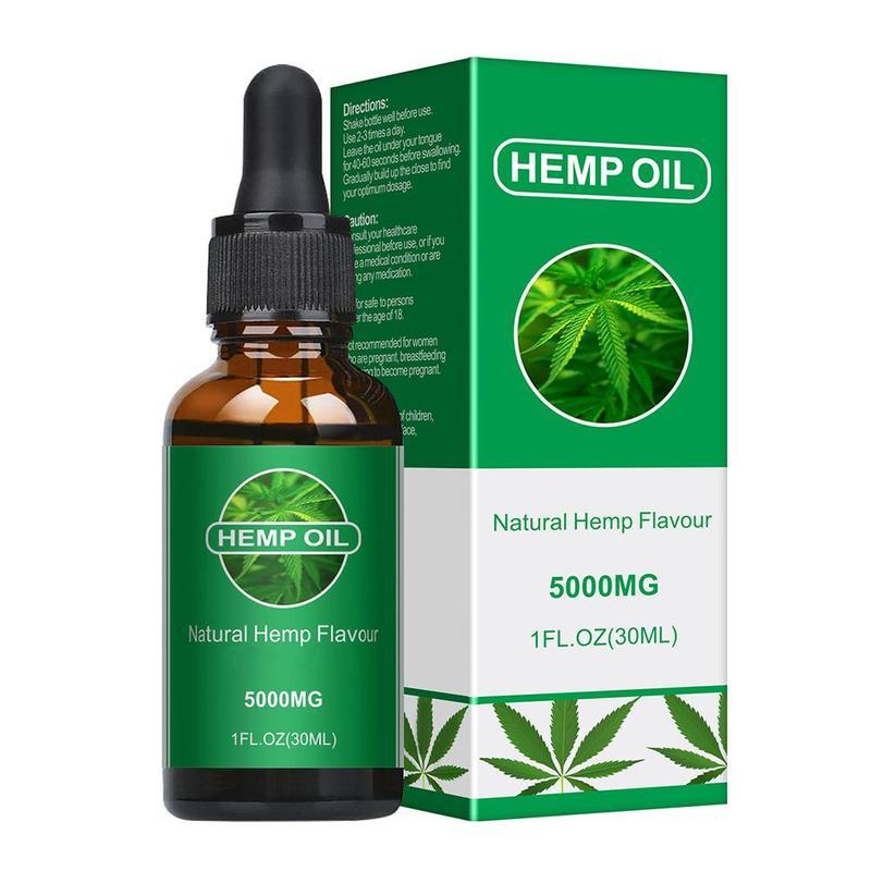 30ml 5000mg Cbd Oil Organic Essential Oil Hemp Seed Oil Herbal Drops 5000mg Cbd Oil Body Relieve Stress Oil Skin Care Help Sleep