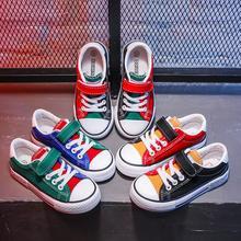 Осенний Детский костюм: Повседневное Кроссовки для мальчика девочек спортивная обувь дышащая кроссовки Лоскутная детская парусиновая обувь;