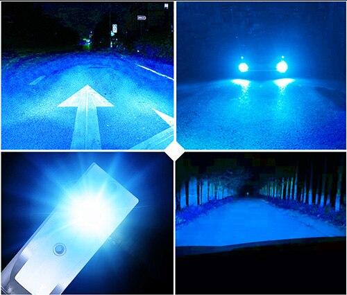 2 предмета Автомобильные светодиодные фары 16000LM H1 H3 H7 H8 H9 H11 9005 HB3 9006 HB4 9012 HIR2 H4 9003 Hi/короче спереди и длиннее сзади) 9004 9007 H13 Автомобильная фара лампы - Испускаемый цвет: 8000 К Белый Синий