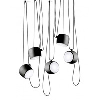 1:1 Replica Italian AIM Nordic LOFT Industrial Pendant lights with Acrylic Cover Diffuser Modern Drum lamp for Dining Room