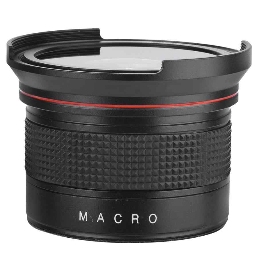 Optical 58MM 0.35X Fisheye Super Wide Angle Lens for Canon Nikon Sony SLR DSLR Camera Black