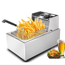 220v or 110v CE 8L Electric Deep Fryer Stainless Steel Frying Machine Commercial Or Household Fryer