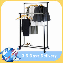 Hanger Balcony Lifting-Clothes Hanging-Stand Telescopic Home-Accessories Stainless-Steel