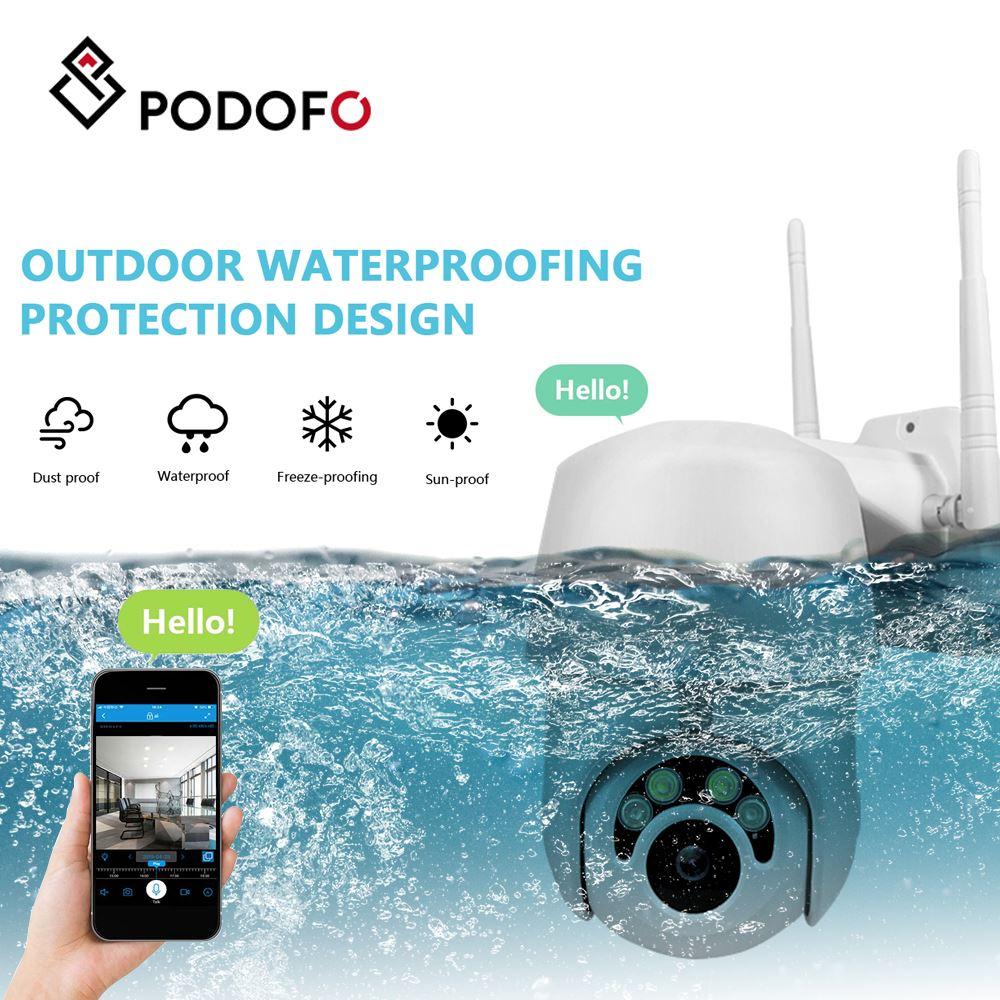 PODOFO 1080P Wireless IP Camera CCTV Waterproof Security Surveillance IR Night Vision CCTV Camera For Outdoor Indoor Home