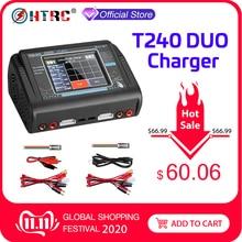 Оригинальное HTRC T240 DUO RC зарядное устройство Dis Двухканальное AC 150 Вт DC 240 Вт сенсорный экран балансирующее зарядное устройство Lipo для RC моделей Игрушек