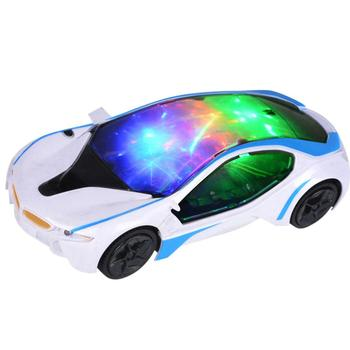 электромобиль 3D Universal Electric Car Toy LED Flashing Light Music Singing Sound Kids Children Gift Toy Car image