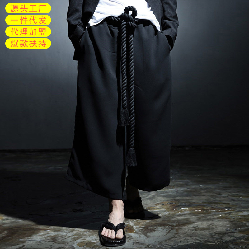 Creative-Casual Pants Men's Popular Brand Nightclub Dance Loose-Fit Bucket Men Capri Pants
