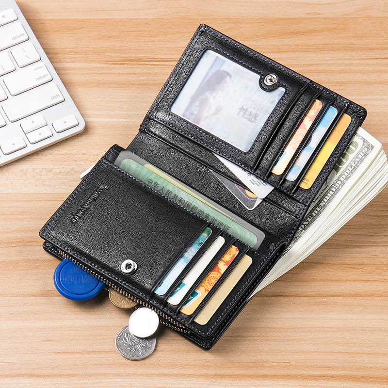 Luxury Brand Leather Wallets Men Zipper Coin Purse/Wallet Men Men's Bags Men's Wallets cb5feb1b7314637725a2e7: Totem A Totem B