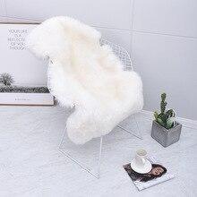 1PC 100%GENUINE & THICK WOOL  Pelt Rug Area Rug for Living Room Sheep Skin Furry rug for Home Decor Fluffy Mat  living room rug