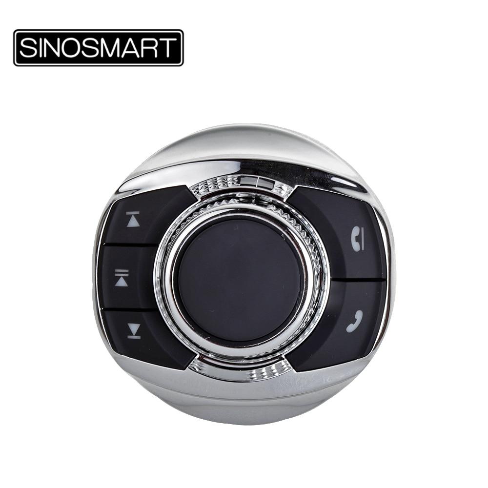 SINOSMART Keys zdalne przyciski sterowania SWC w/ LED uniwersalny inteligentny samochód kierownica do gier bezprzewodowy odtwarzacz nawigacyjny
