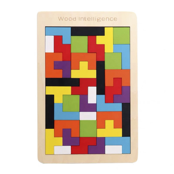 Colorful wooden puzzle toy preschool children imagination intelligence development learning educational toy for children kids