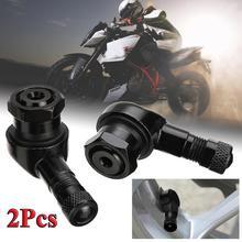2pcs 90 Degree Angle Aluminum Alloy Valve Stem Motorcycle Wheel Tire Tubeless Stems For Rim Parts CNC