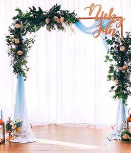 Romantyczny ślubny, prosty Design metalowy kwiat Arch tło stojak wsparcie dla dekoracji ślubnych kwiatowy stojak główny projekt drzwi