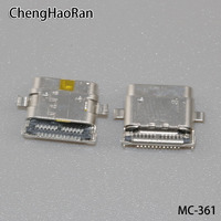 30PCS/lot micro USB 3.1 type C interface Power jack socket Connector Charge Dock port for Huawei Google Nexus 6P H1511 H1512