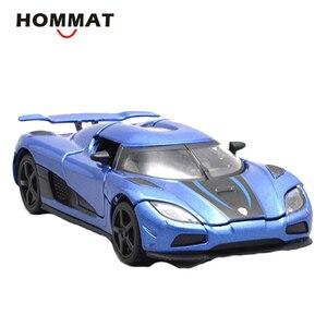 Image 4 - HOMMAT Simulation 1/32 Supercar Koenigsegg Agera R Sport Legierung 1:32 Gießt Druck & Spielzeug Fahrzeuge Autos Modell Autos Spielzeug Für Kinder